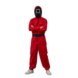 Adults The Squad Square Team Member Jumpsuit and Mask