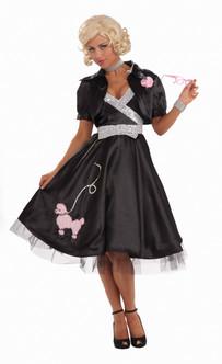 Ladies 1950s Poodle Glam Costume Dress