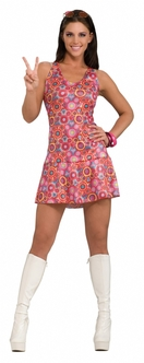 Retro Feeling Groovy 60s Costume Dress