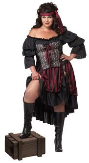 Sassy Pirate Wench Plus Costume