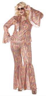 70s Disco-licious Glam Disco Costume - Plus Size