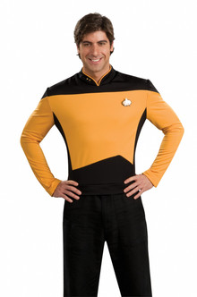 Gold Star Trek Next Generation Shirt Costume