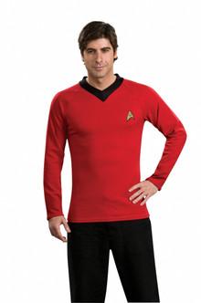 Star Trek Original Red Scotty Costume Shirt