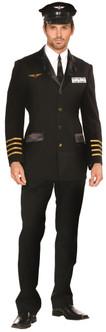 Airplane Pilot/Captain Costume - Plus Size