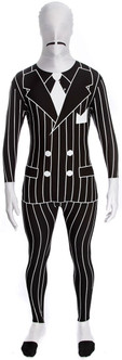 20s Gangster Striped Suit Morphsuit Costume