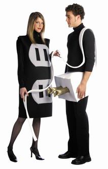 Funny Plug and Socket Couple's Costume