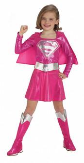 Children's Pink Supergirl Costume