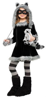 Children's Sweet Raccoon Dress  Costume