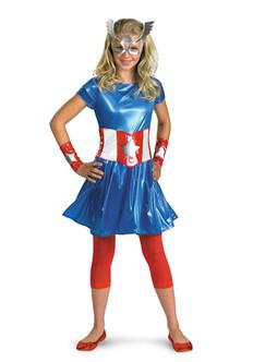 Teen's American Dream Classic Captain America Dress Costume