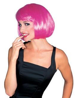 Hot Pink Super Model Bob Wig