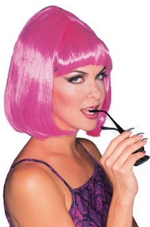 Pink Starlet Beehive Bob 60s Wig