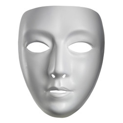 Blank Female Mime Mask
