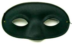 Deluxe Male Black Costume Mask