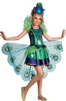 Children's Fancy Peacock Dress Costume