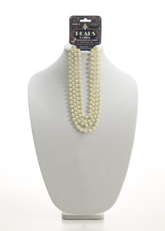 """72"""" Beige Beads, Flapper Pearl Necklace"""