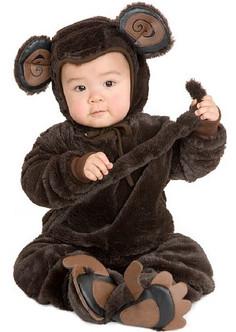 Infant/Toddler's Plush Monkey Costume