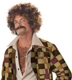 Disco Dirt Bag Afro Wig & Mustache