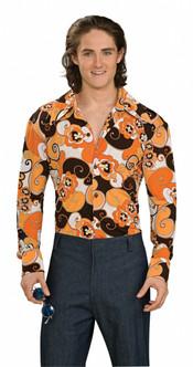 Retro Groovy Orange Halloween Shirt