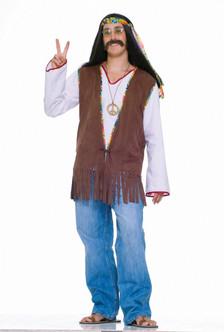 Faux Suede Adult Hippie Halloween Vest