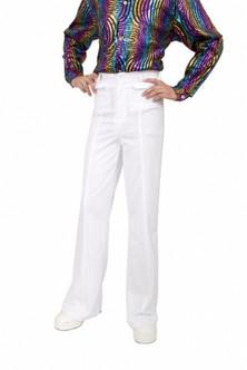 White Bell Bottom Disco pants