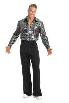 Black Bell Bottom Disco pants