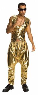 '80s Gold lame MC Hammer Pants