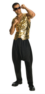 Black 80s Hammer Dance Pants