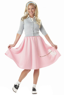 50s Pink Poodle Skirt Costume