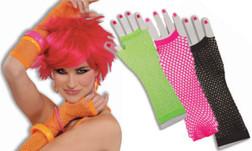 80s Neon Fishnet Fingerless Gloves