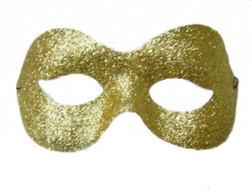 Gold Charm Glitter Costume Eye Mask