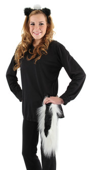 Skunk Ears and Tail Set