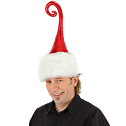 Tall Curly Q Holiday Hat