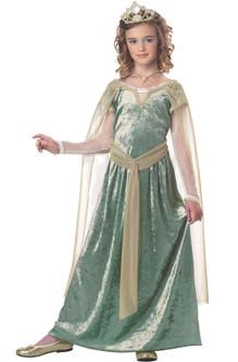 Children's Queen Guinevere Medieval Costume