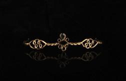 Medieval Black Gem Drop Gold Circlet