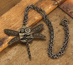 Dragonfly Gears Necklace