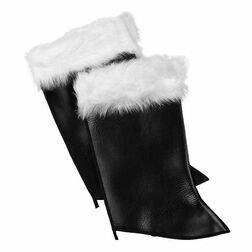 Santa Boot Tops Naugahyde and Fur
