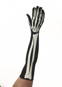 Long Skeleton Gloves