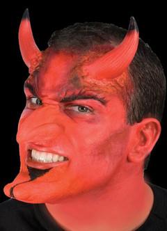 Large Red Devil Demon Horns