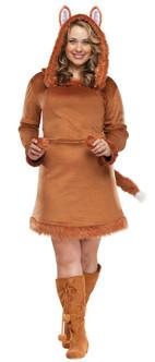 CLEARANCE - Lady-Fox Dress Costume - Plus Size