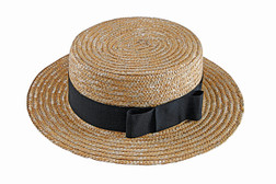 Straw Hat and Bowtie