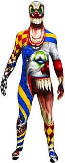 Scary Clown Kids Halloween Morphsuit Costume