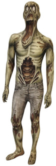Kids Scary Zombie Morphsuit Halloween Costume
