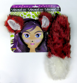 Foxy Ears and Tail Costume Set