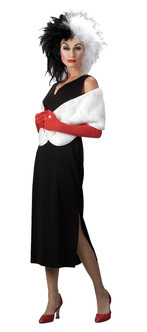Disney's Cruella De Vil Sassy Ladies Hallowen Costume