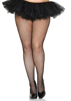Plus Size Fishnet Pantyhose - Black