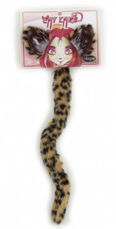 Faux Fur Cheetah Ears And Tail Sets