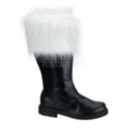 Faux Fur Trim Santa Boots