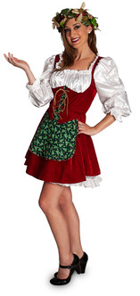 Santa's Helper Elf Traditional Ladies Costume