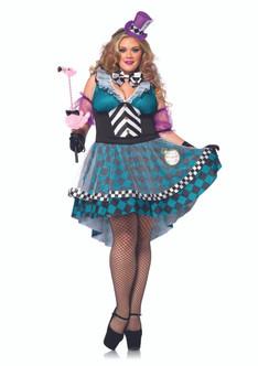 Manic Mad Hatter-ess Costume - Plus Size