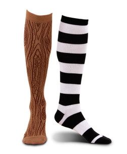 Mismatched Pirate Socks with Wooden Leg